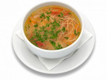 Легкий куриный суп с лапшой - зама