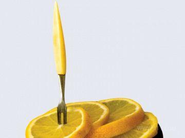 Лимонная вилка отличается миниатюрностью