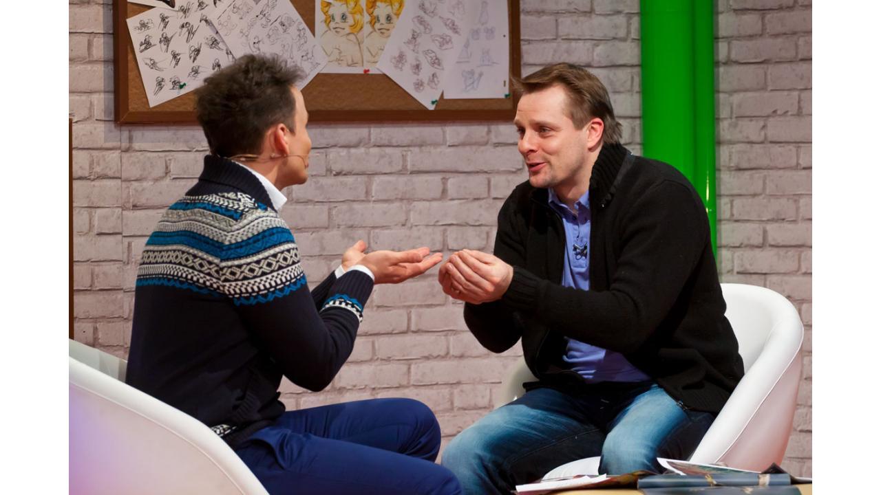 Александр Носик в гостях программы «Мультстудия»