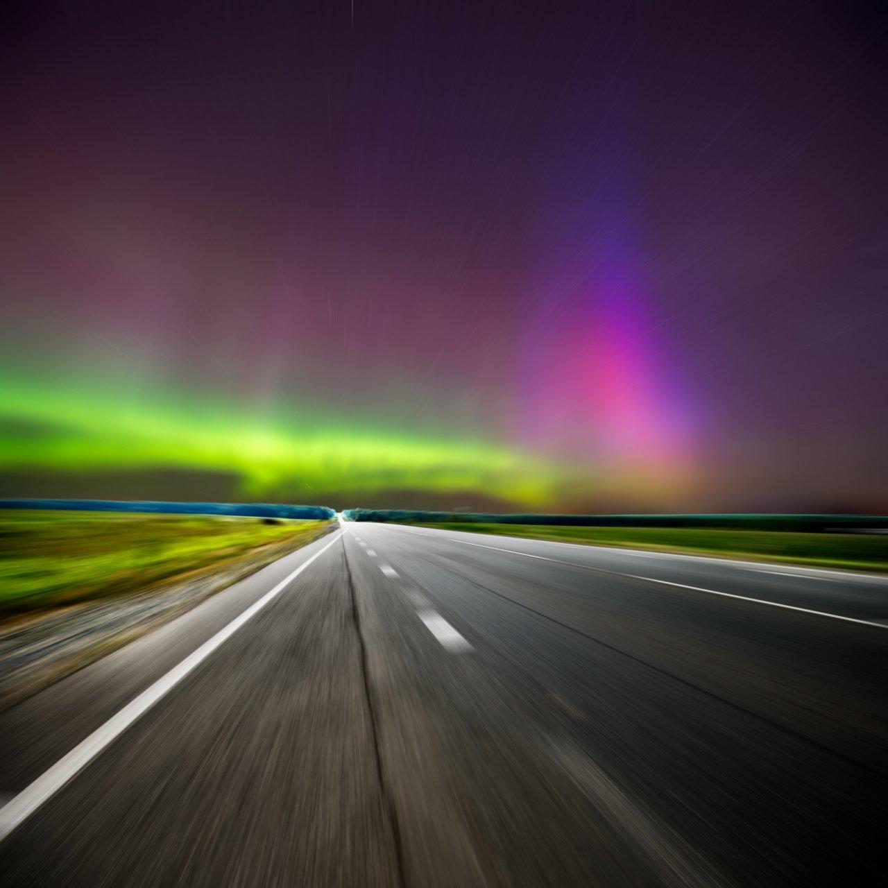 Полярное сияние по дороге в Ижевск. Фото: Thirteen / Shutterstock
