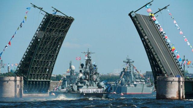 Торжественный парад к Дню Военно-Морского Флота России